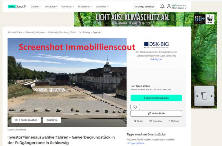Schleswig: Vermarktungsstart der ehemaligen Hertie-Grundstücke Stadtweg 66-70