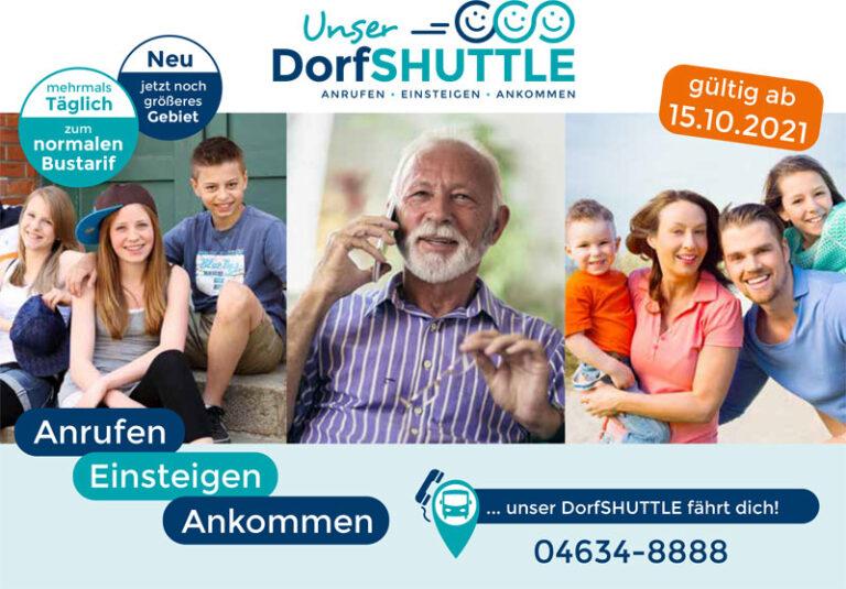 Kreis Schleswig-Flensburg: Wir bringen das DorfSHUTTLE ab 15. Oktober zurück auf Linie!